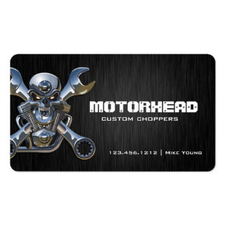 Elegant Metalwork Skull and Wrench Double-Sided Standard Business Cards (Pack Of 100)