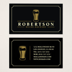 Elegant Micro Brewery Craft Beer Business Card at Zazzle