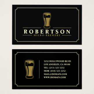 Elegant Micro Brewery Craft Beer Business Card