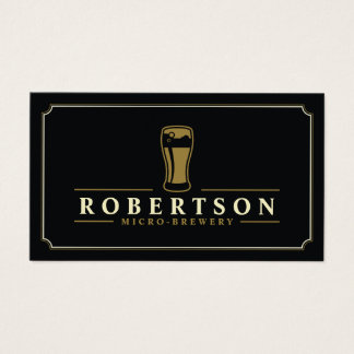 Elegant Micro Brewery Craft Beer Business Card