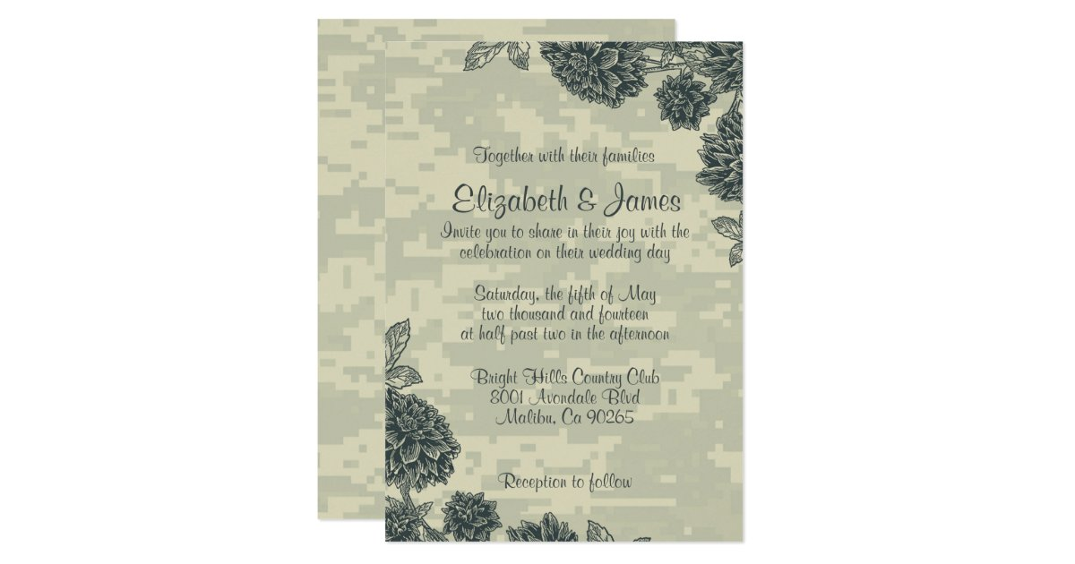 Elegant Military Wedding Invitations