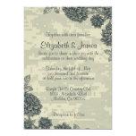 "Elegant Military Wedding Invitations 5"" X 7"" Invitation Card"