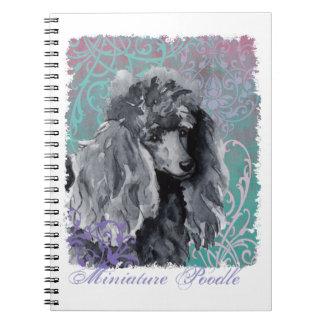 Elegant Miniature Poodle Notebook