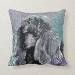Elegant Miniature Poodle Pillow