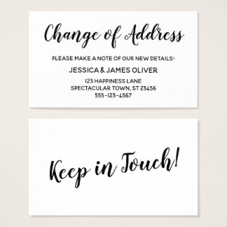 Elegant, Minimal Change of Address Insert Card