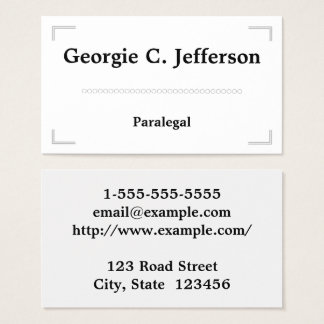 Paralegal Business Cards Templates Zazzle