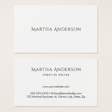 Elegant minimal professional business cards