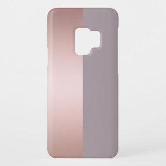 Elegant & minimal rose gold & purple color block Case-Mate samsung galaxy s9 case