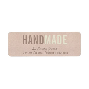 ELEGANT MINIMAL ROSE GOLD SHIMMER HANDMADE ADDRESS LABEL