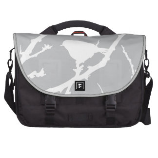 Elegant Minimalist Bird Silhouette Laptop Bag