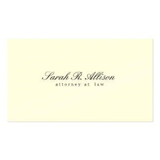 Elegant Minimalist Cream Professional Double-Sided Standard Business Cards (Pack Of 100)