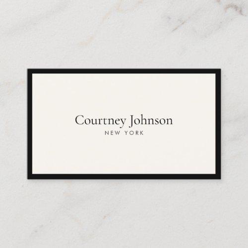 Elegant Minimalist Luxury Boutique BlackIvory Business Card
