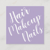 Elegant minimalist makeup artist business card
