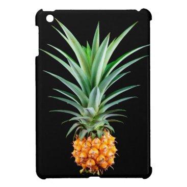 Beach Themed elegant minimalist pineapple | black background cover for the iPad mini