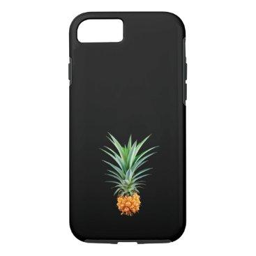 Beach Themed elegant minimalist pineapple | black background iPhone 7 case