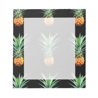 elegant minimalist pineapple | black background notepad