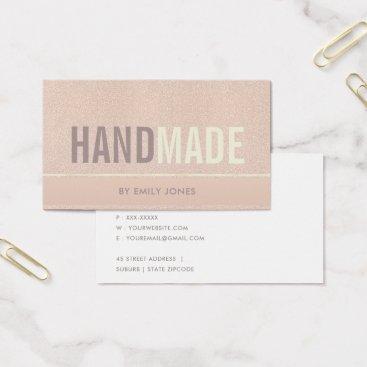 Professional Business ELEGANT MINIMALIST ROSE GOLD SHIMMER HANDMADE BUSINESS CARD