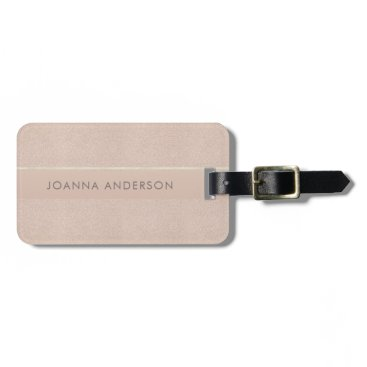 Professional Business ELEGANT MINIMALIST ROSE GOLD SHIMMER PERSONALIZED BAG TAG