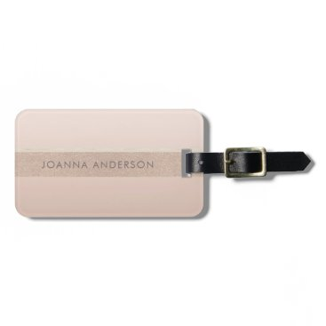 Professional Business ELEGANT MINIMALIST ROSE GOLD SHIMMER PERSONALIZED LUGGAGE TAG