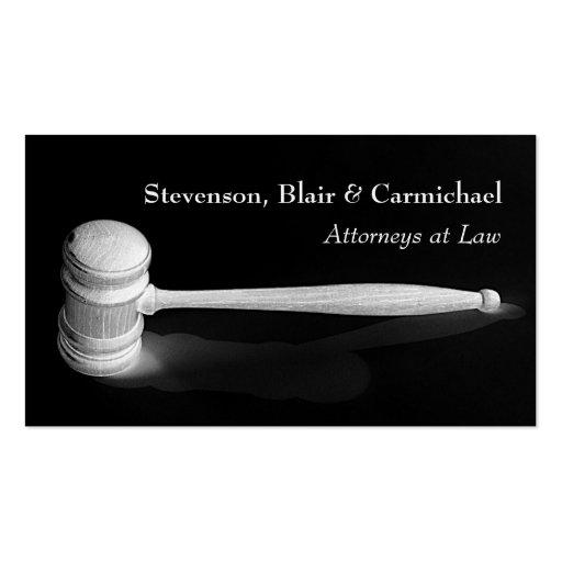 Elegant Minimalistic Gavel Judge Attorney Business Business Card Templates