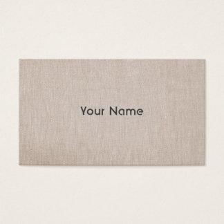 Elegant Minimalistic Natural Linen Look Business Card