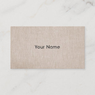 Natural linen business cards zazzle elegant minimalistic natural linen look business card reheart Image collections