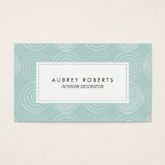 Elegant Mint Geometric Circles Pattern Designer Business Card