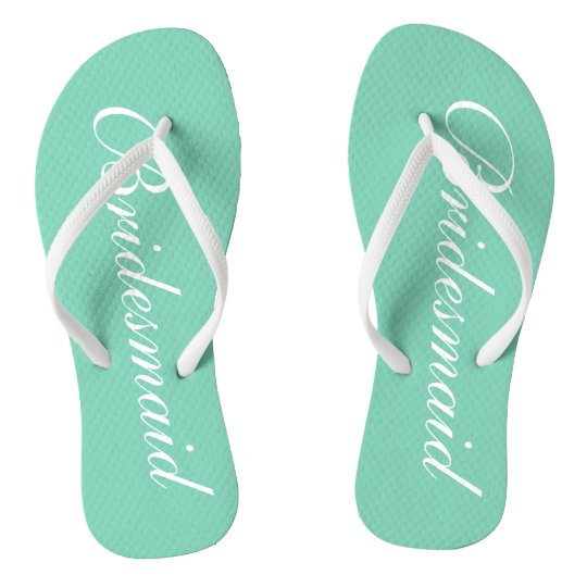 89cacb4330114 Elegant mint green bridesmaid wedding flip flops