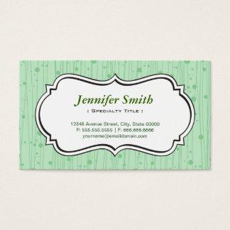 Elegant Mint Green Dots Stripes Business Card