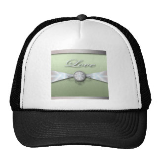 Elegant Mint Green Wedding Invitation and Favor Trucker Hat