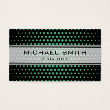 Professional Business Elegant Mint Polka Dot Pattern Business Card