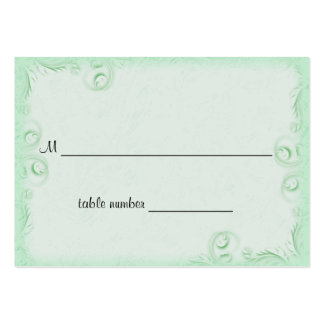 Elegant Mint Scrollwork Wedding Table Placecard Large Business Cards (Pack Of 100)