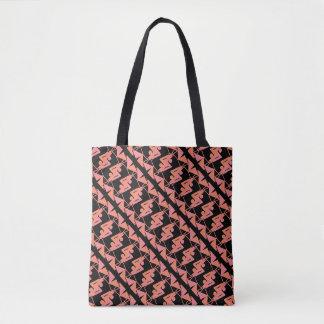 Elegant Mirrored Geometric & Abstract Pattern Tote Bag