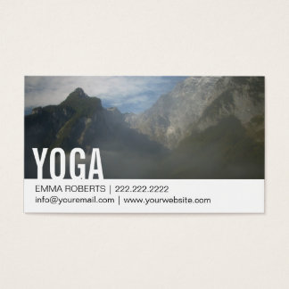 Elegant Misty Mountain Yoga Business Card