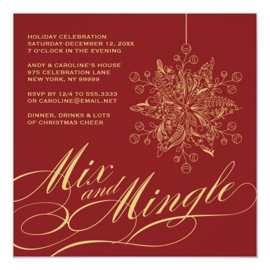 Elegant Mix Mingle Holiday Party Invitation Zazzlecom