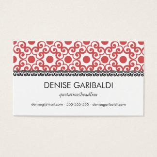 Elegant Modern Arabesque Business Calling Card