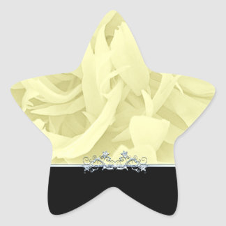 Elegant modern art work in light yellow star sticker