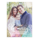 Elegant Modern Be Merry Christmas Photo Card Invitations