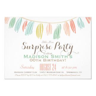 Elegant, Modern Birthday Surprise Party Card