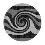 Elegant modern black and gray swirl cutting board