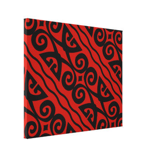 Elegant Modern Black And Red Canvas Wall Art