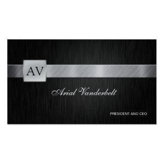 Elegant  & Modern Black and Silver Business Cards