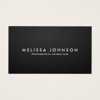 Elegant & Modern Black and Silver Professional Business Card
