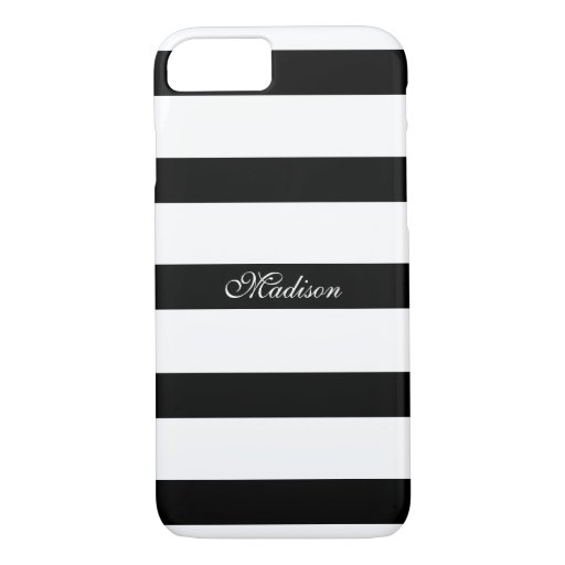 Elegant Modern Black and White Stripes iPhone 8/7 Case