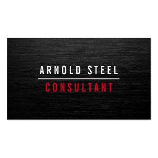 Elegant modern black metal professional plain Double-Sided standard business cards (Pack of 100)