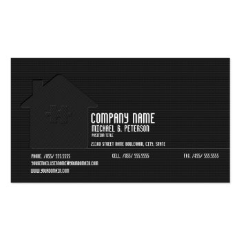 Elegant Modern Black Real Estate Plain Card Business Card