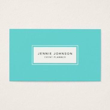 Professional Business Elegant Modern Blue Business Card