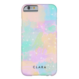 elegant modern bright pastel watercolor barely there iPhone 6 case