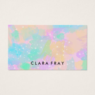 elegant modern bright pastel watercolor business card