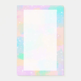 elegant modern bright pastel watercolor post-it notes